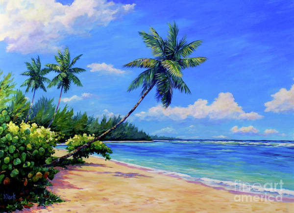 Coconut Painting - Paradise Palms by John Clark