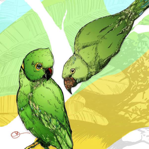 Digital Art - Parakeets by Lucas Boyd