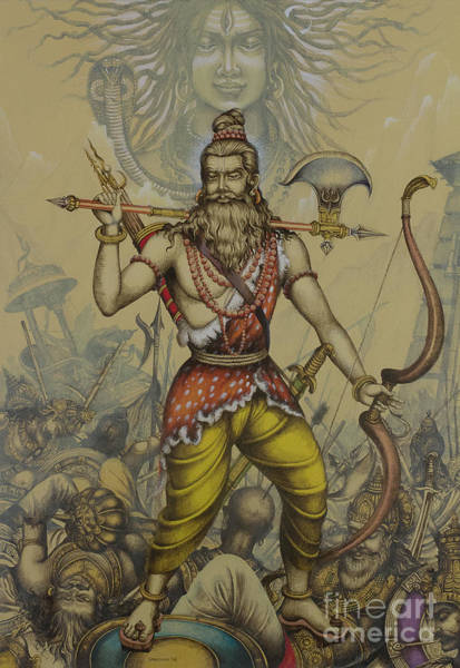 Wall Art - Painting - Parashurama Avatar by Vrindavan Das