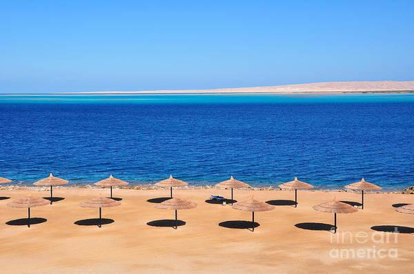Wall Art - Photograph - Parasols At Red Sea,hurghada by Mu Yee Ting