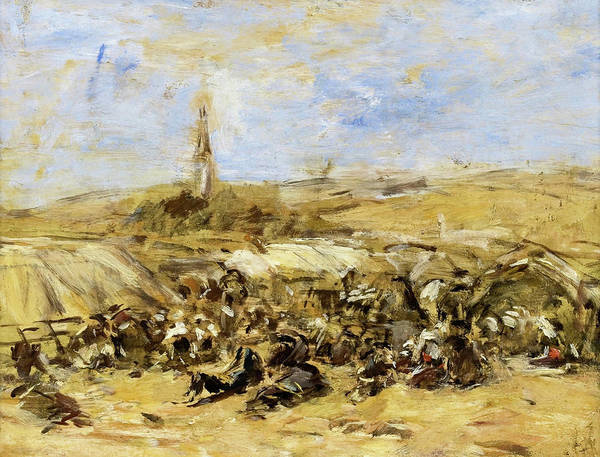 Tragedy Painting - Pardon Of Ste-anne-la-palud - Digital Remastered Edition by Eugene Louis Boudin