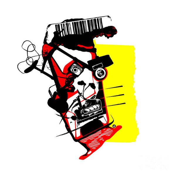 Barcode Digital Art - Pareidolia #4 by Jeff Danos