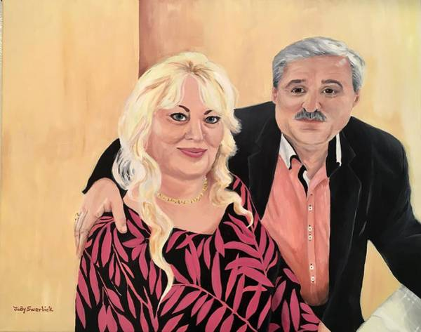 Wall Art - Painting - Parents by Judy Swerlick