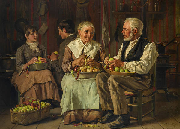 Wall Art - Painting - Paring by John George Brown