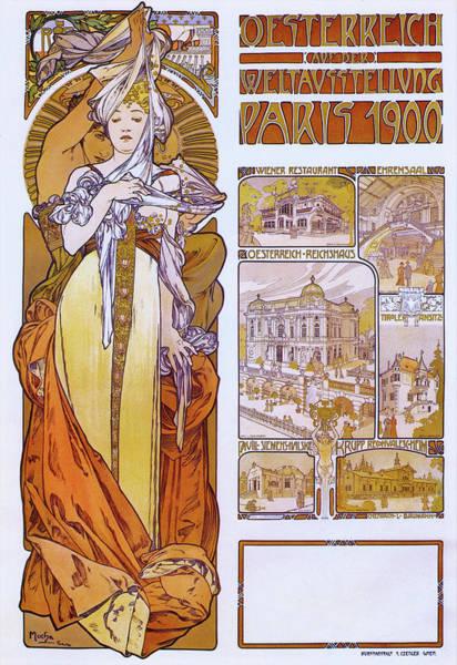 Wall Art - Painting - Paris 1900 - Digital Remastered Edition by Alfons Maria Mucha