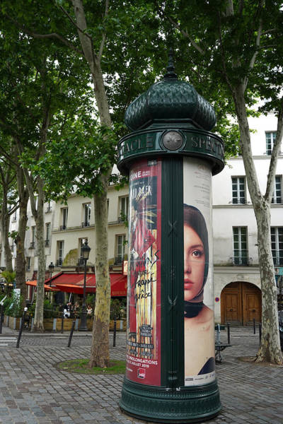 Photograph - Paris Advertising Columns 1 by Andrew Fare