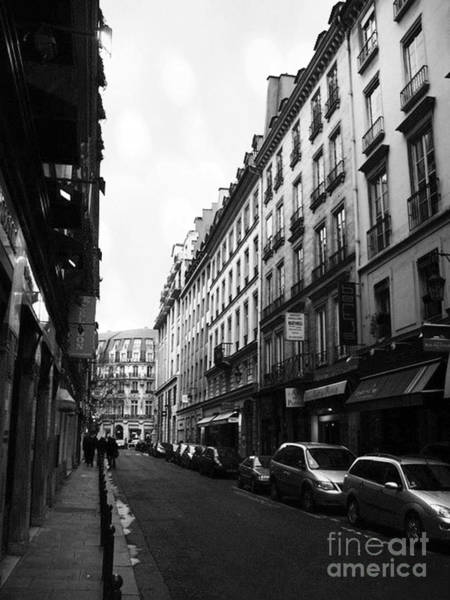 Wall Art - Photograph - Paris Apartments Street Scene - Paris Black White Street Building Apartment Prints by Kathy Fornal
