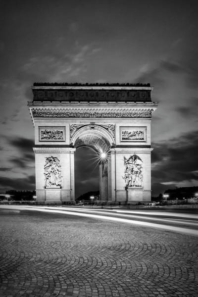 Wall Art - Photograph - Paris Arc De Triomphe - Monochrome by Melanie Viola