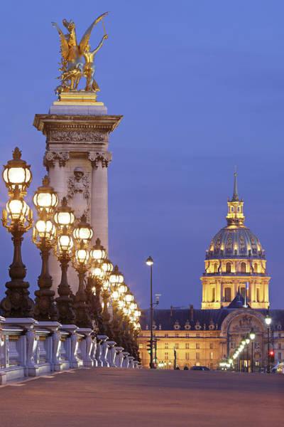 Invalides Photograph - Paris Architecture Illuminated At Night by S. Greg Panosian