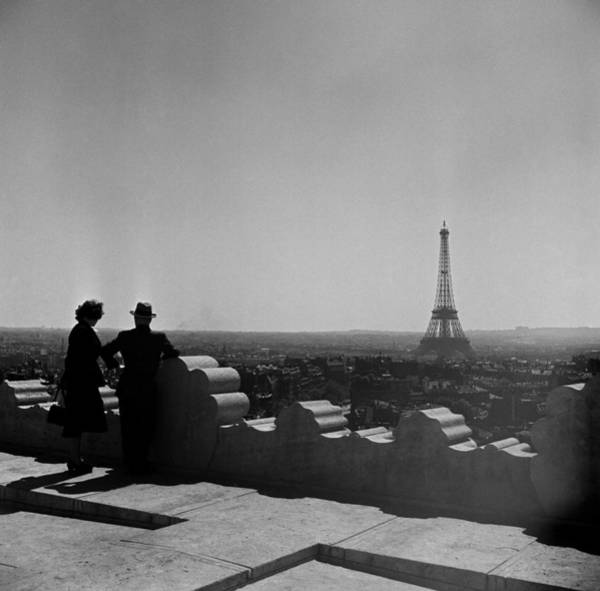 Headwear Photograph - Paris At Dusk by Michael Ochs Archives