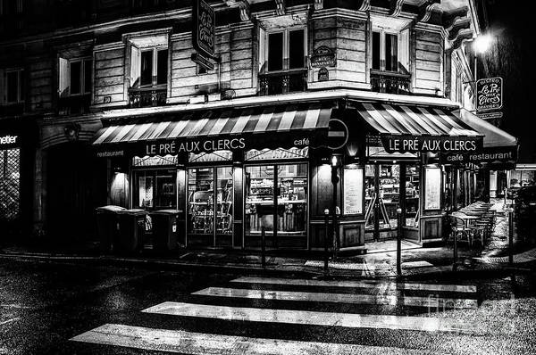 Photograph - Paris At Night - Rue Bonaparte by Miles Whittingham