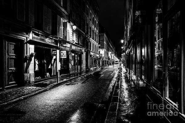 Photograph - Paris At Night - Rue De Vernueuil by Miles Whittingham