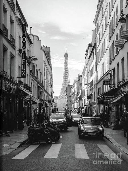 Wall Art - Photograph - Paris Black And White Street Art, Paris Black White Eiffel Tower Neighborhood Street Scenes  by Kathy Fornal