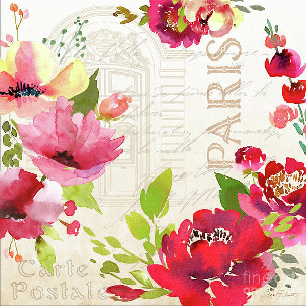 Jeans Mixed Media - Paris Blossoms A by Jean Plout