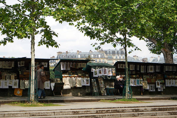 Wall Art - Photograph - Paris Book Vendors 6 by Andrew Fare
