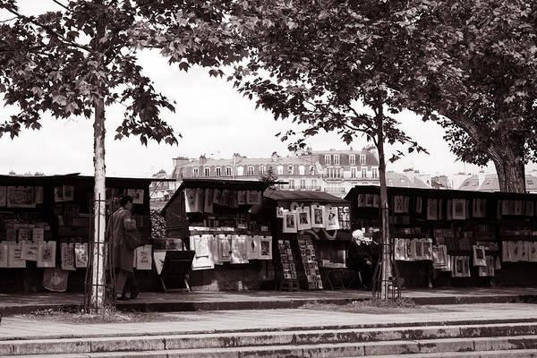 Photograph - Paris Book Vendors 6b by Andrew Fare