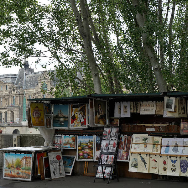 Photograph - Paris Book Vendors 7 by Andrew Fare
