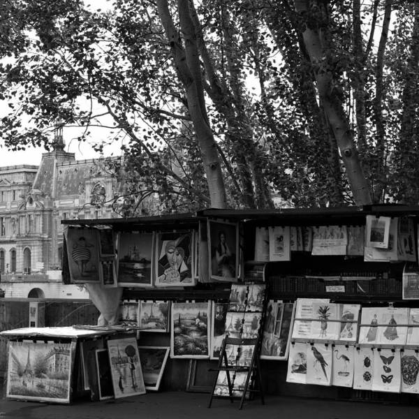 Photograph - Paris Book Vendors 7bw by Andrew Fare