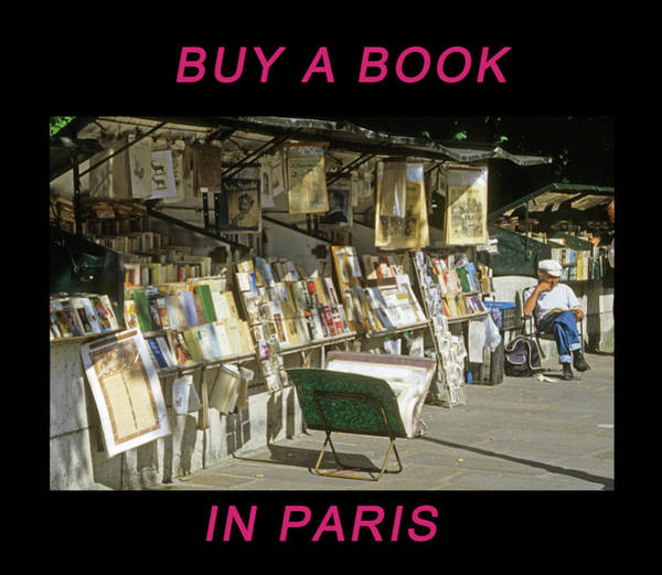 Photograph - Paris Bookseller by Frank DiMarco