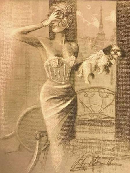 Sfumato Drawing - Paris By Night by Richard Remblier