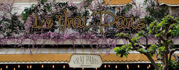 Photograph - Paris Cafe Sign by Andrew Fare