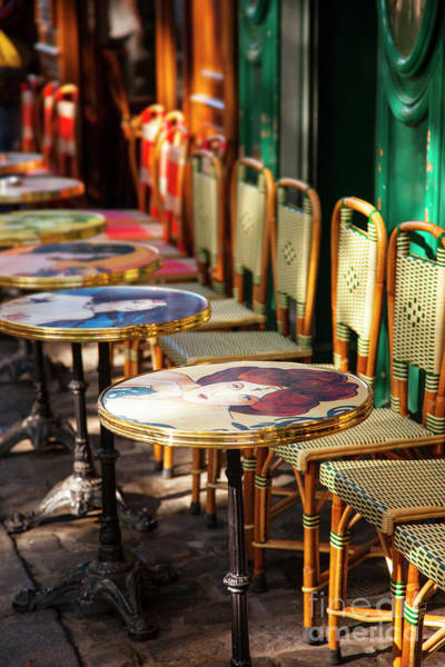 Wall Art - Photograph - Paris Cafe Tables by Brian Jannsen