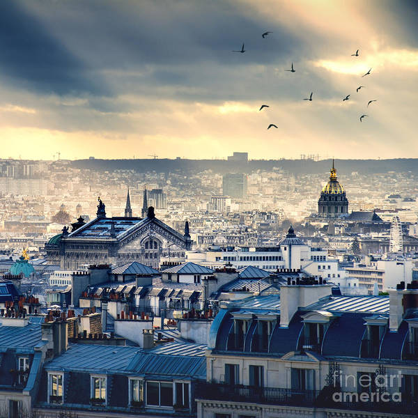 Wall Art - Photograph - Paris Cityscape Taken From Montmartre by Im photo