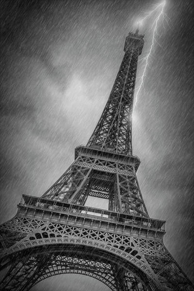 Wall Art - Photograph - Paris Design Eiffel Tower Thunderstorm by Melanie Viola