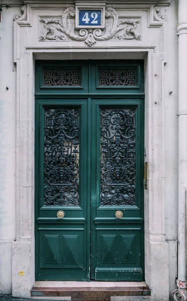Photograph - Paris Door - Green by Georgia Fowler