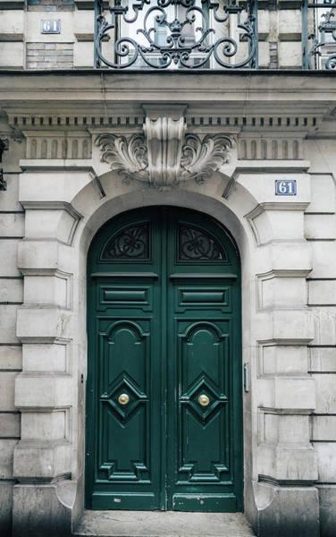 Photograph - Paris Door - Green Number 61 by Georgia Fowler