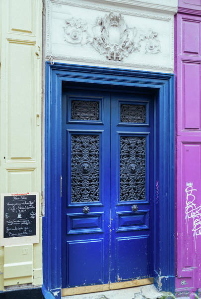 Wall Art - Photograph - Paris Door In Bright Blue by Georgia Fowler