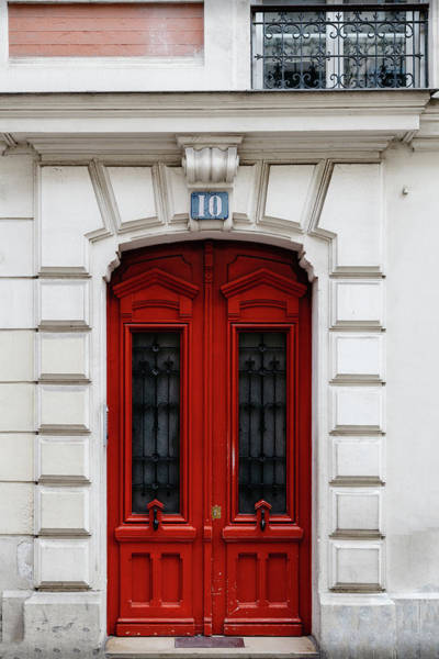 Wall Art - Photograph - Paris Door In Bright Red by Georgia Fowler