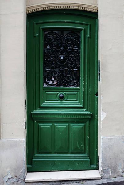 Photograph - Paris Door In Emerald Green by Georgia Fowler