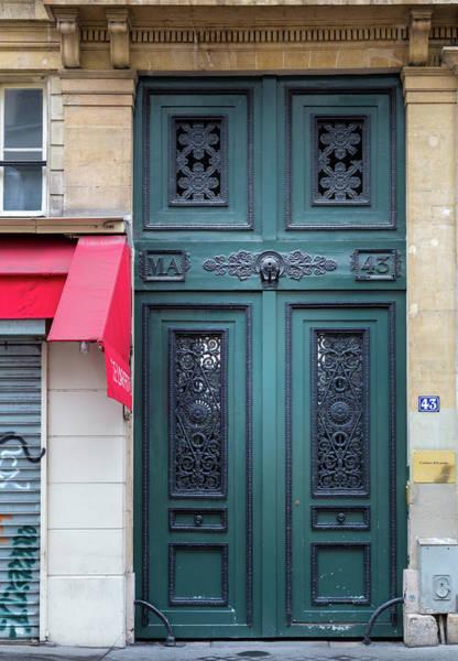 Photograph - Paris Door - Teal Green by Georgia Fowler