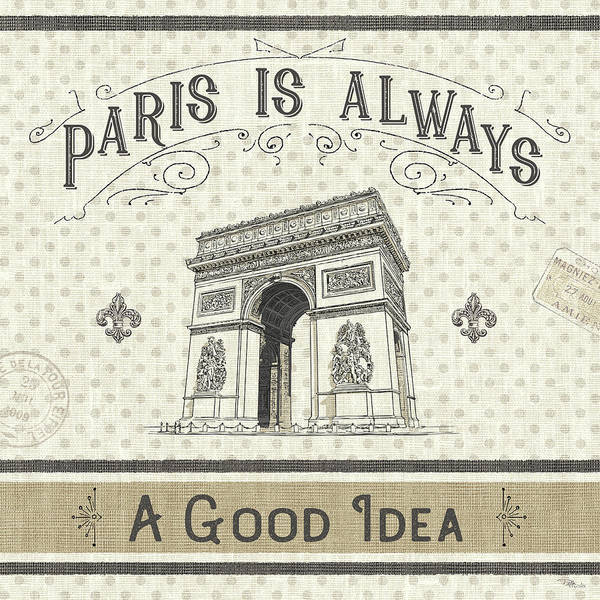 Wall Art - Painting - Paris Farmhouse Iv by Pela Studio