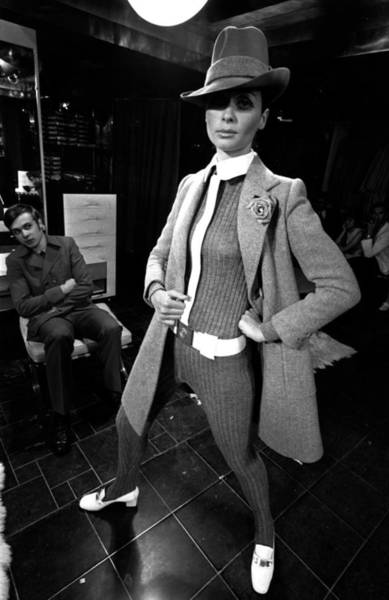 Sweater Photograph - Paris Fashions by Evening Standard