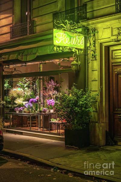 Wall Art - Photograph - Paris Fleurs Flower Shop by Mike Reid