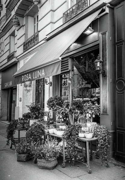 Photograph - Rosa Luna Paris Flower Shop by Georgia Fowler