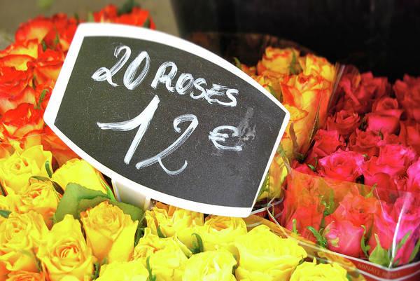 Photograph - Paris Flower Shop by JAMART Photography