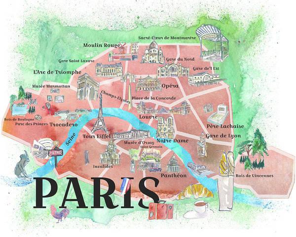 Illustrated Map Paintings | Fine Art America on printable map of paris, simplified map of paris, english map of paris, sports map of paris, interactive map of paris, white map of paris, outlined map of paris, high resolution map of paris, history map of paris, fun map of paris, highlighted map of paris, large map of paris, antique map of paris, watercolor of paris, color map of paris, travel map of paris, detailed street map of paris, photography of paris, religion map of paris, illustration of paris,