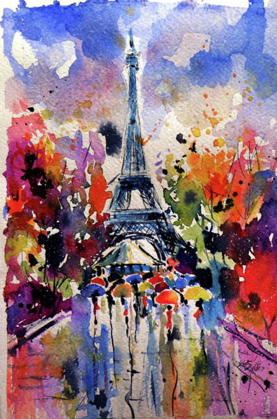 Wall Art - Painting - Paris I by Kovacs Anna Brigitta