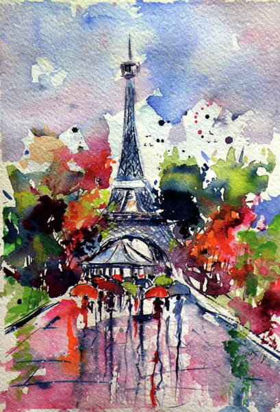 Wall Art - Painting - Paris II by Kovacs Anna Brigitta