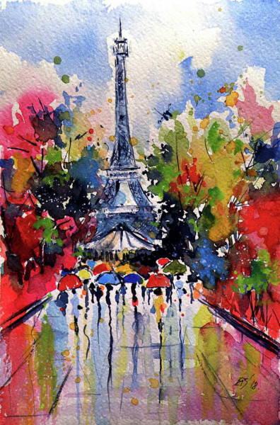 Wall Art - Painting - Paris IIi by Kovacs Anna Brigitta