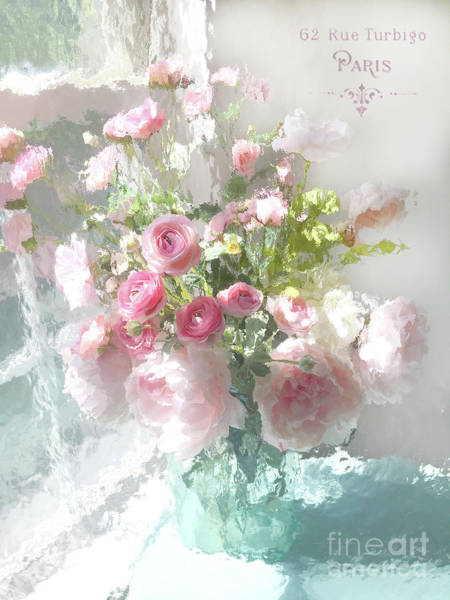 Wall Art - Mixed Media - Paris Impressionistic Pastel Fleurs - Paris Flower Market Romantic Impressionistic Floral Home Decor by Kathy Fornal