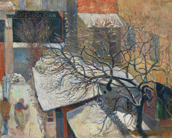 Wall Art - Painting - Paris In The Snow by Paul Gauguin