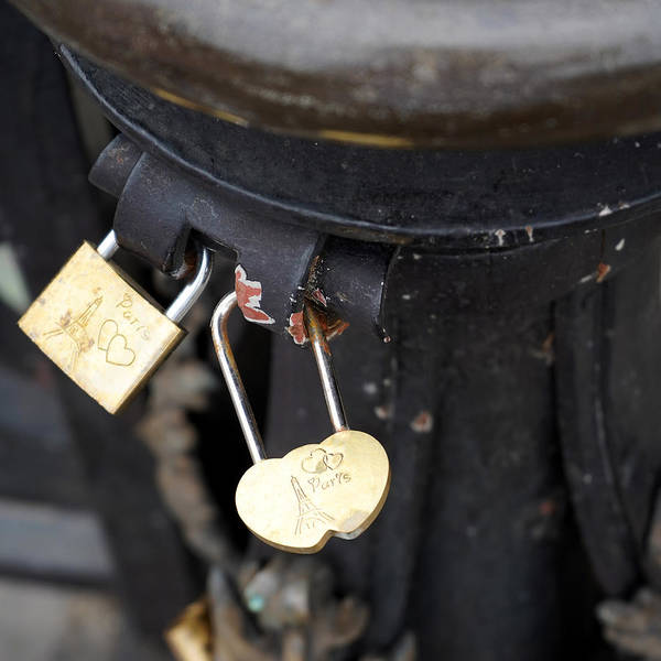 Photograph - Paris Love Locks by Andrew Fare