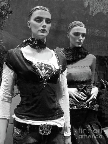 Wall Art - Photograph - Paris Mannequins - Paris Black White Fashion Window Mannequins - Paris Window Mannequin Art Deco by Kathy Fornal