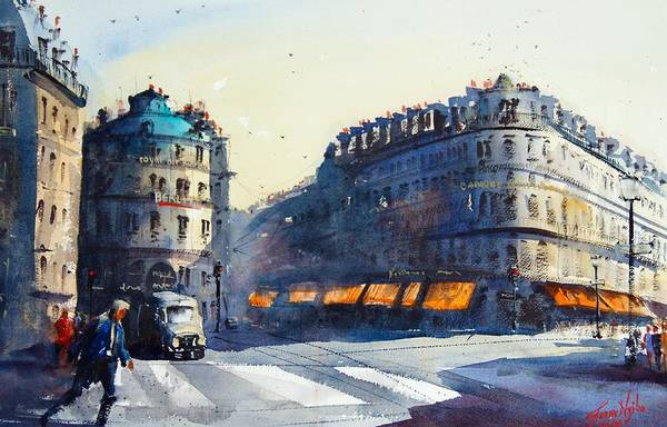 Wall Art - Painting - Paris, Near Opera by James Nyika