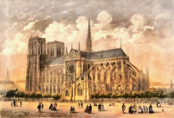 Wall Art - Photograph - Paris Notre Dame Cathedral France by Edward Fielding