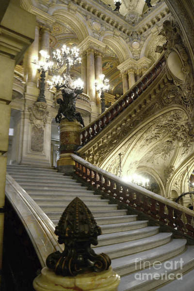 Wall Art - Photograph - Paris Opera Garnier - Opera House Of Paris - Opera Grand Staircase by Kathy Fornal